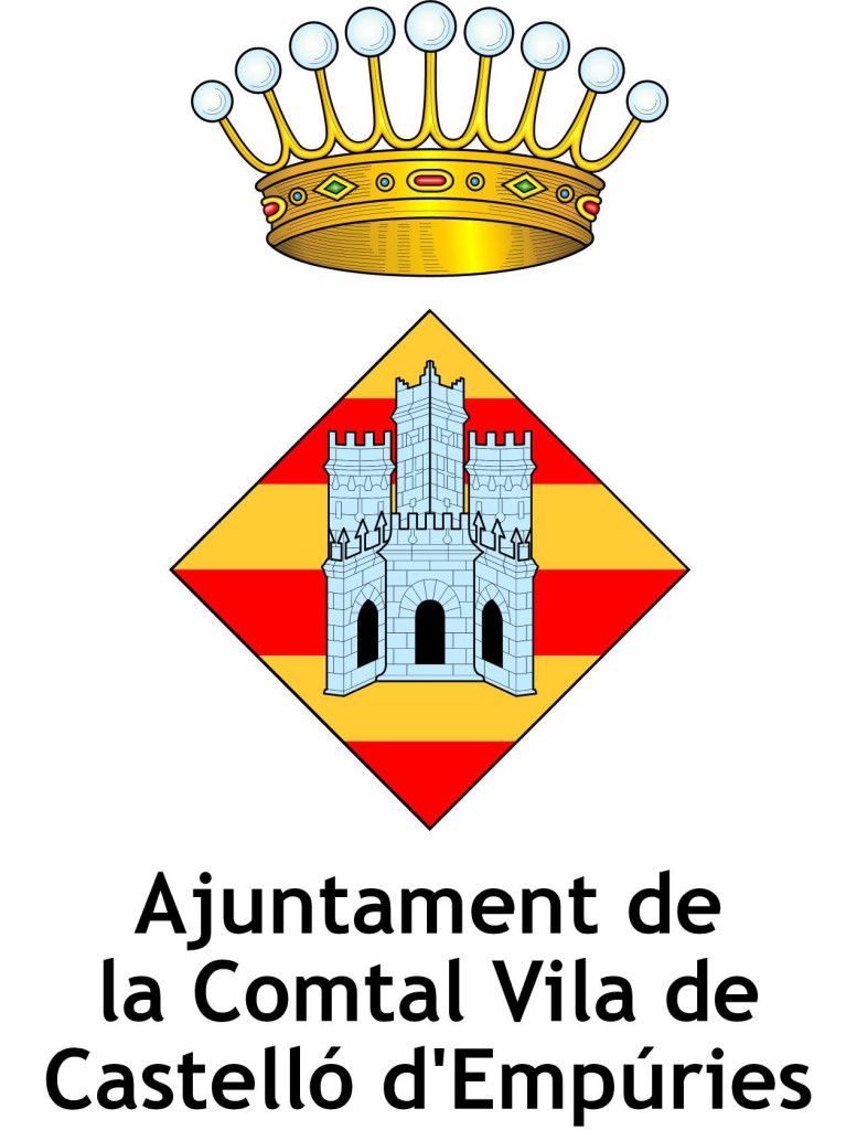 Logo Ajuntament Castelló d'Empúries vertical