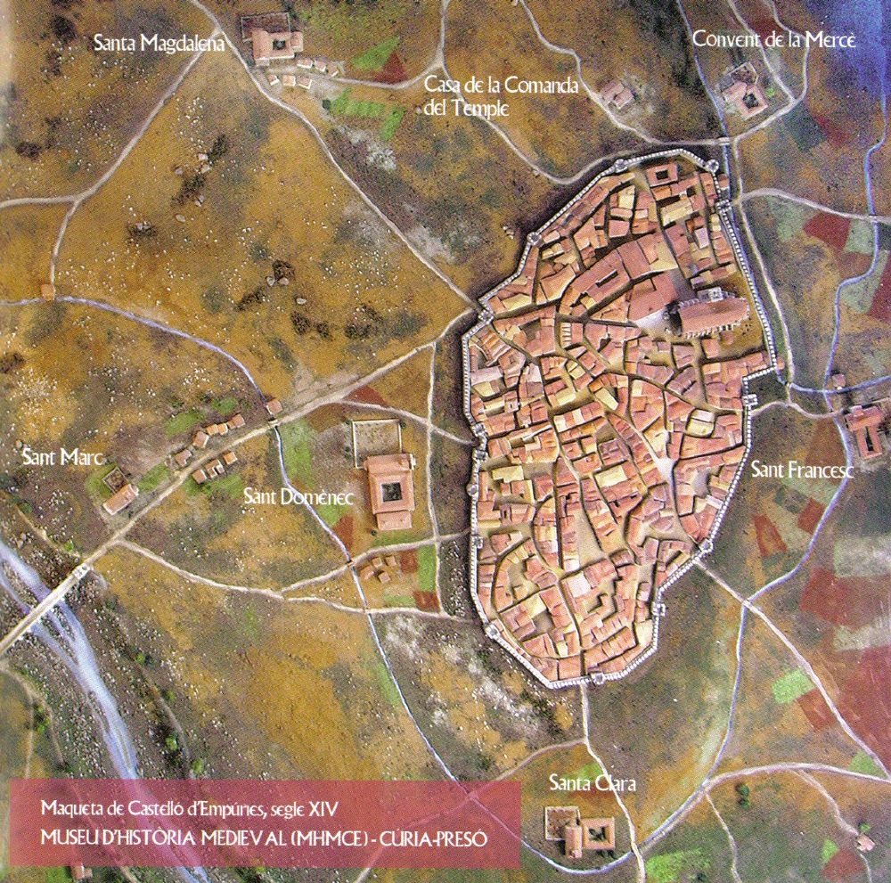 Maqueta Castelló d'Empúries s XIV-MHMCE